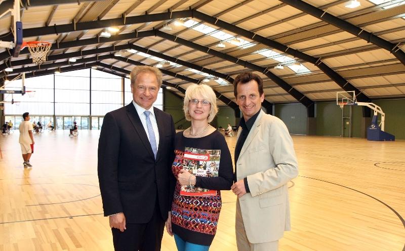 Eröffnung des ASKÖ Ballsport-Centers in der Bernoullistrasse durch Herrn Amtsführenden Stadtrat Christian Oxonitsch