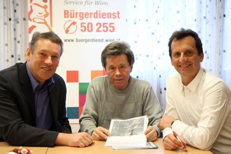 Bürgerdienst Sprechstunde mit StR. Christian Oxonitsch und BV Norbert Scheed in Wien Donaustadt