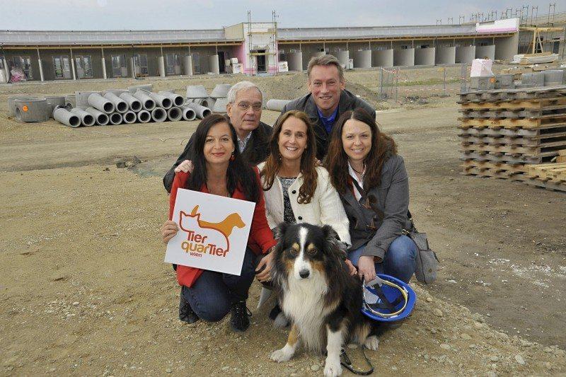 Sima: Gleichenfeier für das neue TierQuarTier Wien